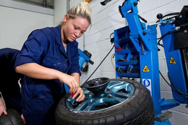 Taylor S Ultimate Dream To Not Be Afraid Of Tires Woman Mechanic Mechanic Girl Mechanics
