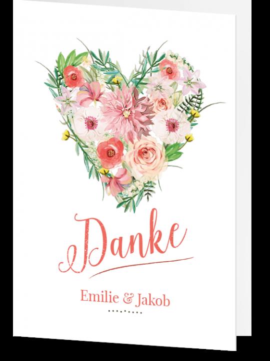 Danksagung Flora White Hochzeitseinladung Mit Blumen Hochzeitskartendesign Karte Hochzeit Hochzeitseinladung