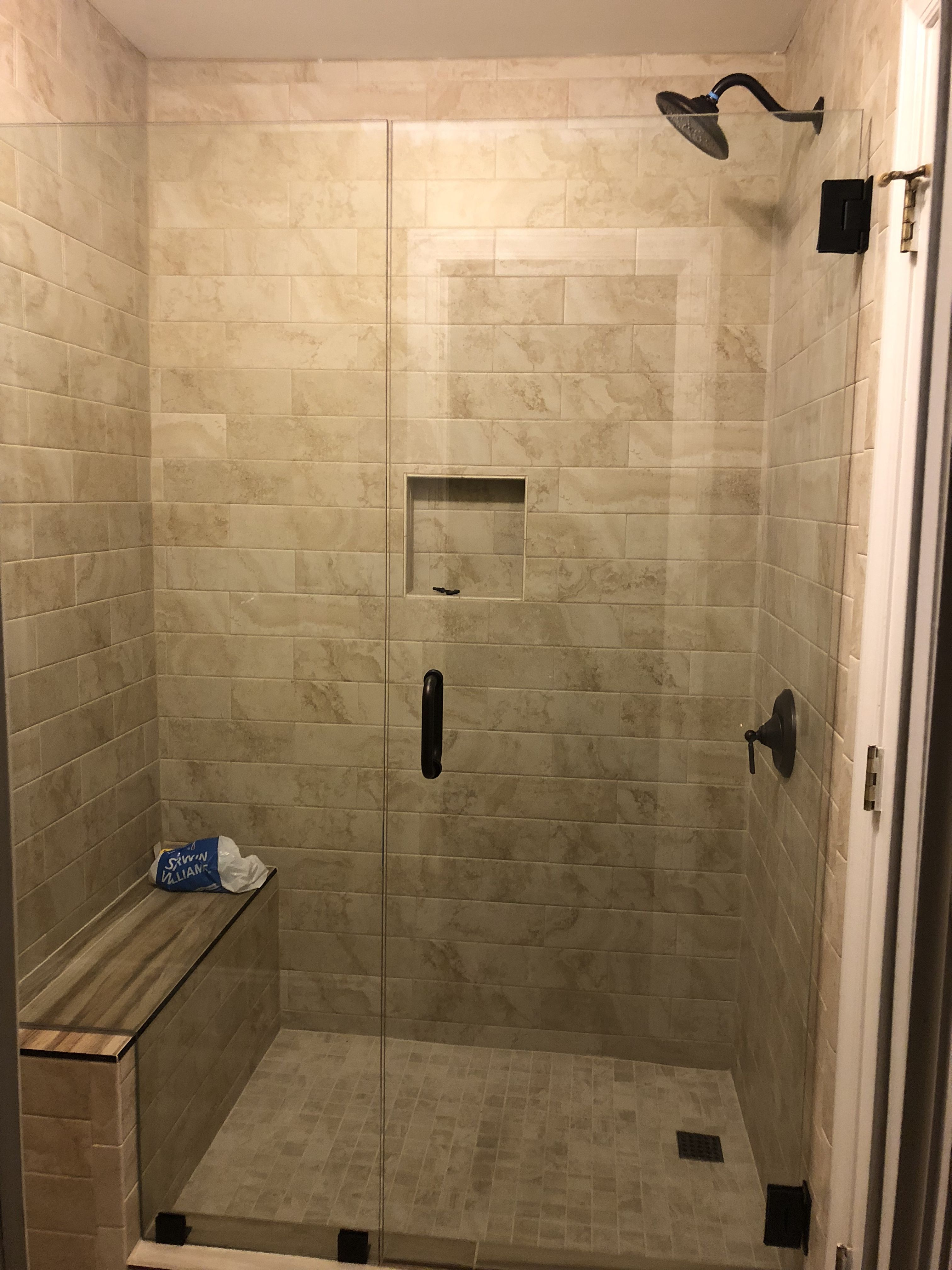 Converted From Shower Tub To Shower Only With Images Tub To