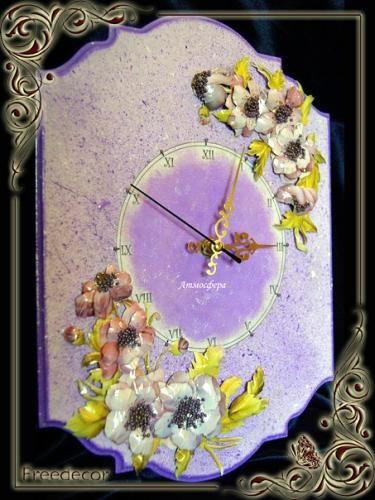 Часы «Летняя ночь» http://dcpg.ru/mclasses/614/ Click on photo to see more! Нажмите на фото чтобы увидеть больше! decoupage art craft handmade home decor DIY do it yourself clock Materials and techniques: decoupage card acrylic paint varnish etc.