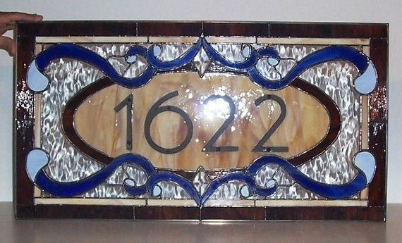Traditional Yet Contemporary Stained Glass Window Transom