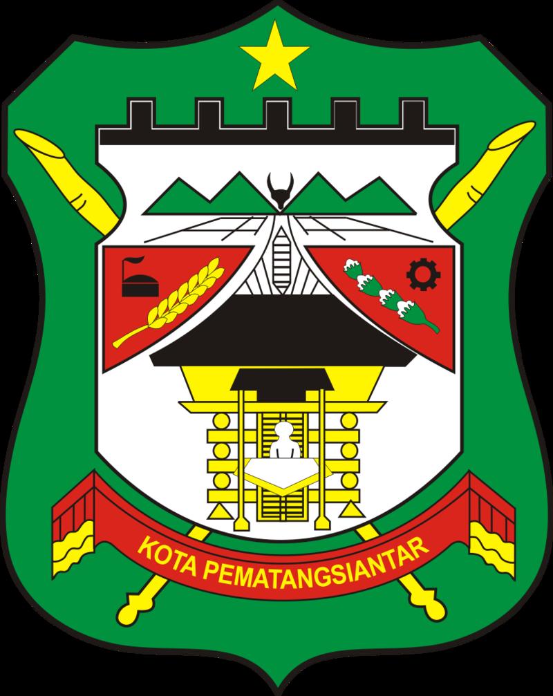 Lambang Kabupaten Pematangsiantar Kota Indonesia Danau Toba