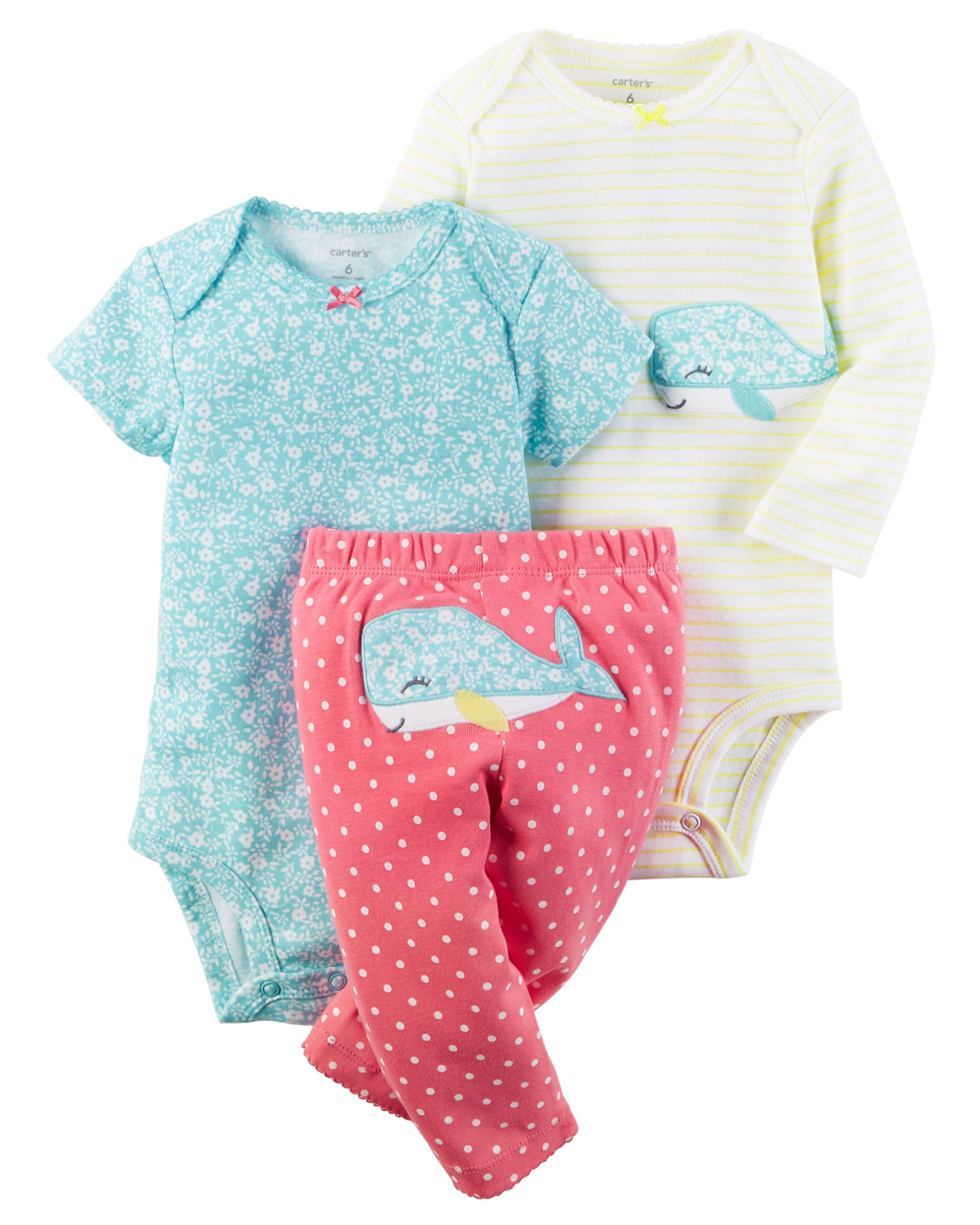 Carters Baby Girls Little Blooms Dress Set Size 3-9-Month New