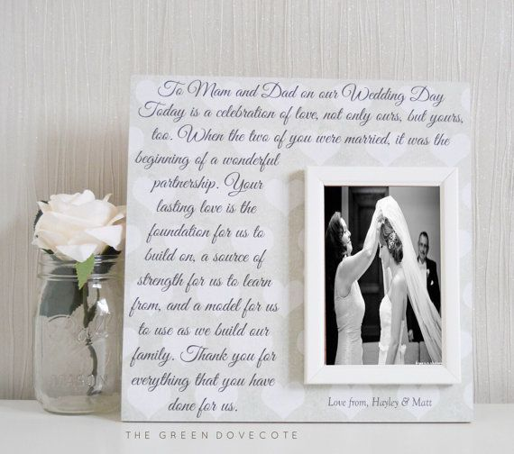 Parents Of The Bride Gift - Parents Of The Groom Gift - Parent Thank ...
