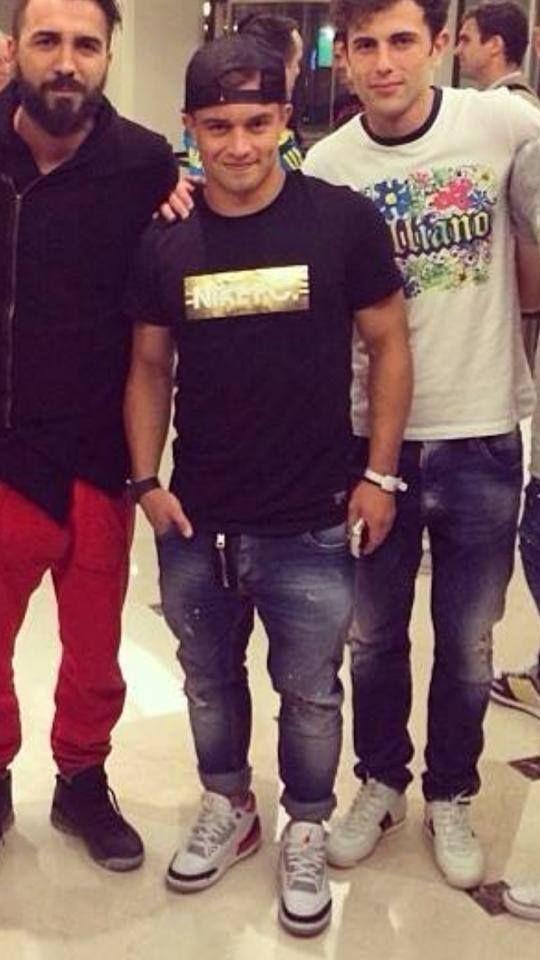 Xherdan Shaqiri Footballplayer Bayern Munchen Wearing Xagon Man Jeans