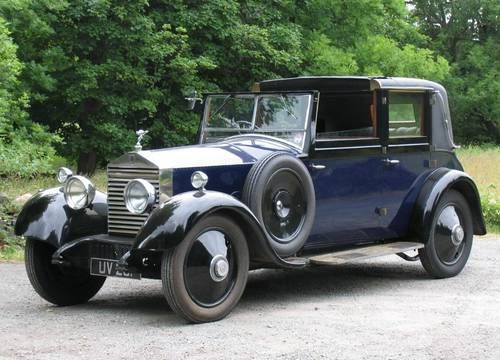 1928 Rolls-Royce 20hp Windovers Sedanca de Ville For Sale