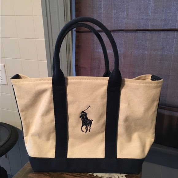 2aebd242bb6d Polo mini canvas bag Used but great shape canvas bag with inside pocket  Polo by Ralph Lauren Bags Mini Bags