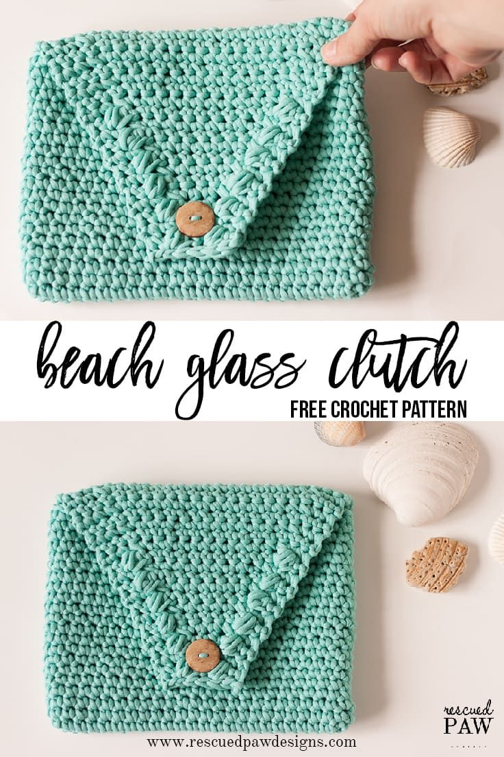 Make This Beach Glass Clutch Today Free Crochet Pattern By Rescued