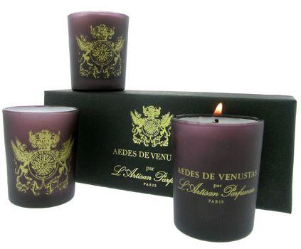 L'Artisan Parfumeur - Aedes de Venustas Votive Candle Set of Three at Aedes.com.
