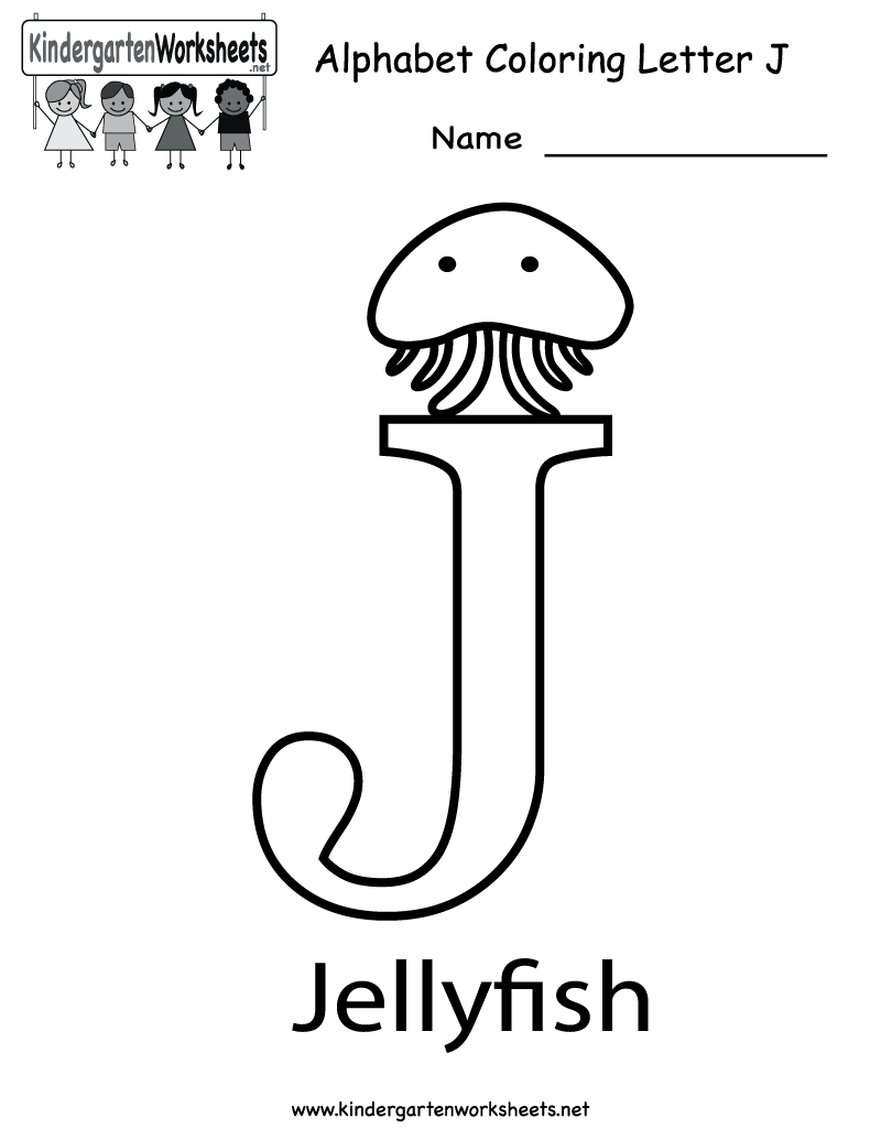 Kindergarten Letter J Coloring Worksheet Printable | Worksheets ...