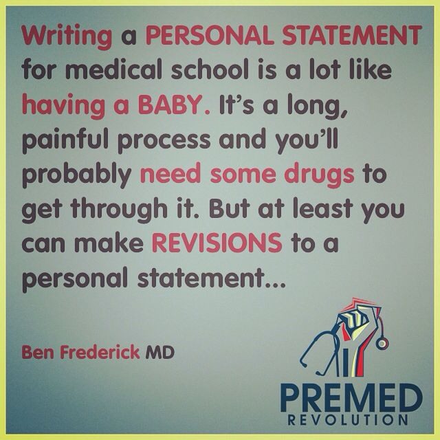 Writing a personal statement for med school is like #premed - personal statement for medical school