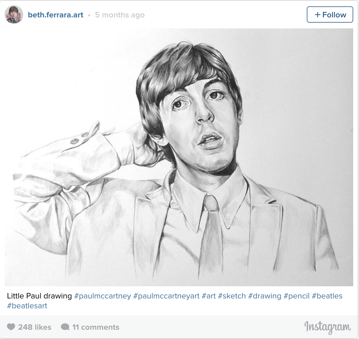PaulMcCartney Fan Art This Darn Near Perfect Sketch Of A Young Paul Comes