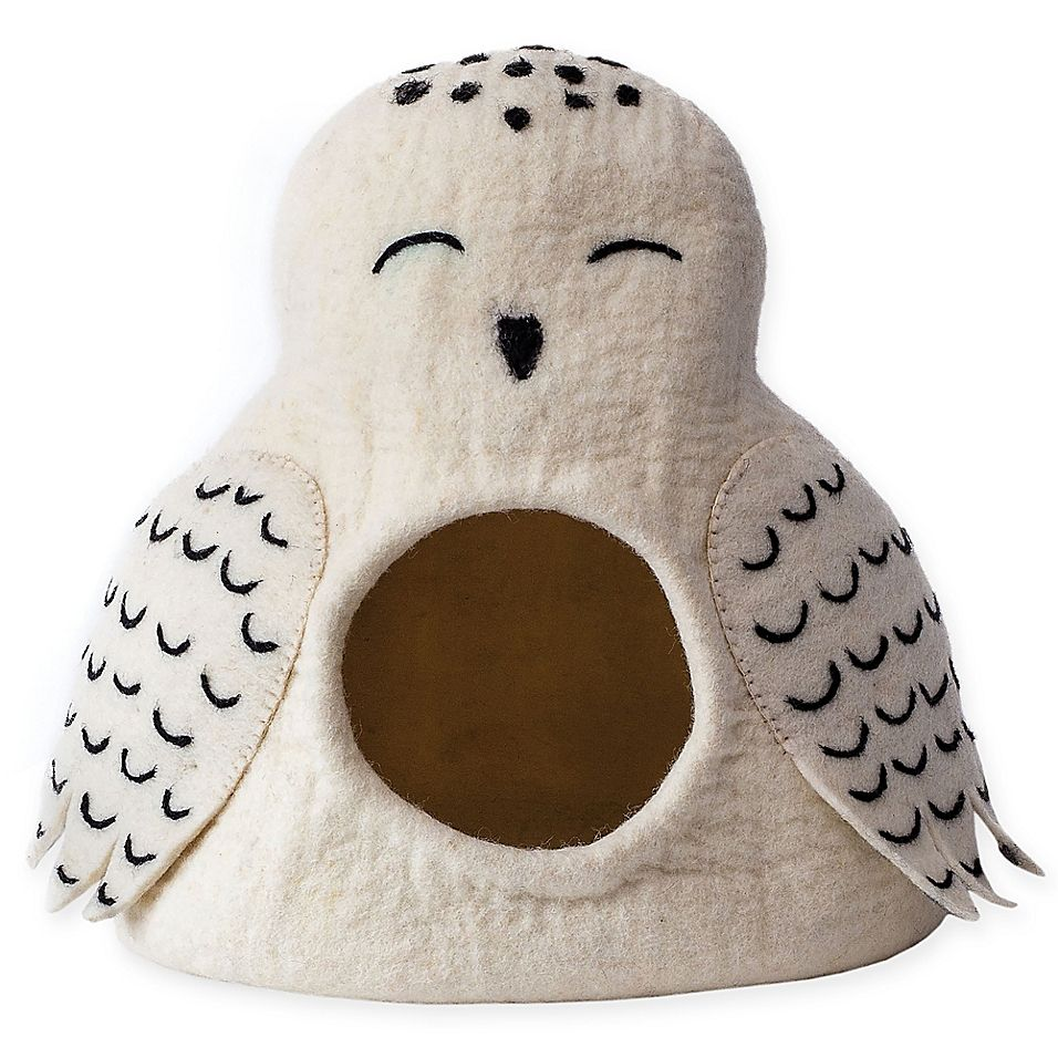 Dharma Dog Karma Cat Owl Cave Pet Bed In White Cave dog