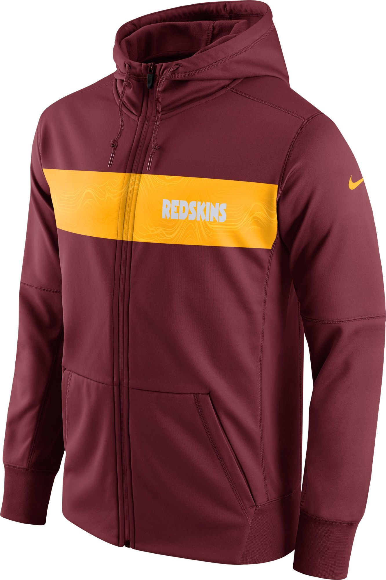 0e02baef Nike Men's Washington Sideline Therma-FIT Red Full-Zip Hoodie ...
