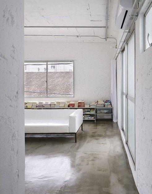 estrich-polierter Estrichboden für moderne Schlafzimmergestaltung