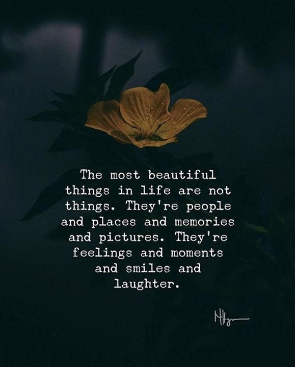 Beautiful Life Quotes Life Quotes: The Most Beautiful Things In Life Are Not Things