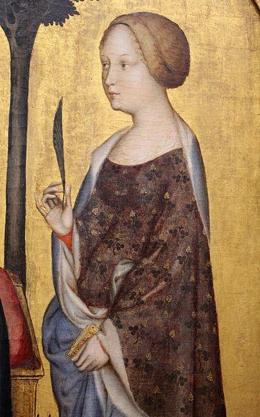 Gentile da Fabriano - Madonna col Bambino tra Santa Caterina e San Nicola, dettaglio - 1405 - Berlino, Staatliche Museen