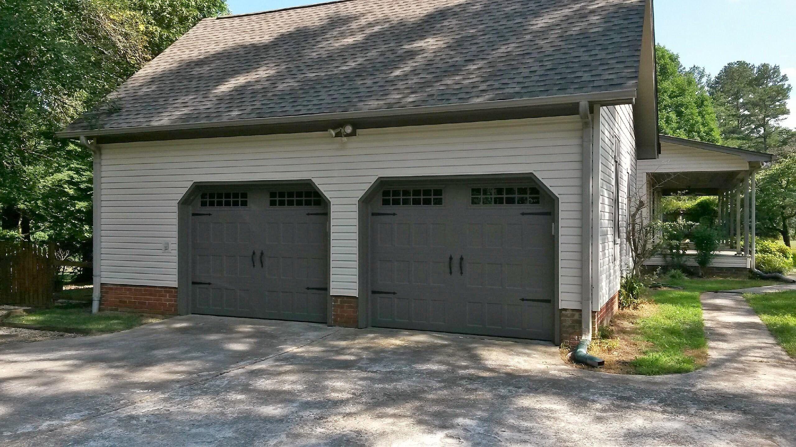 Carriage style garage doors cost - Carriage Style Garage Door Dark Gray Amarr S Oak Summit In Terratone