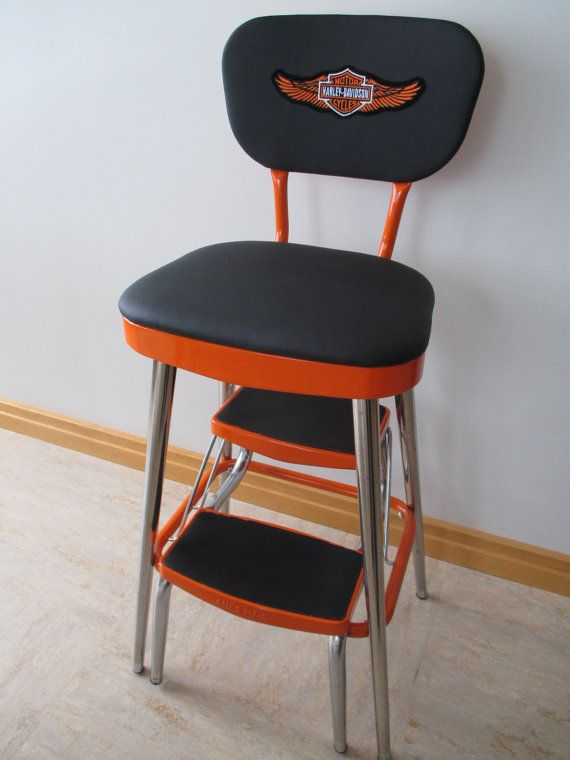 Stupendous Vintage Restored Ames Maid Cosco Style Kitchen Step Stool Short Links Chair Design For Home Short Linksinfo