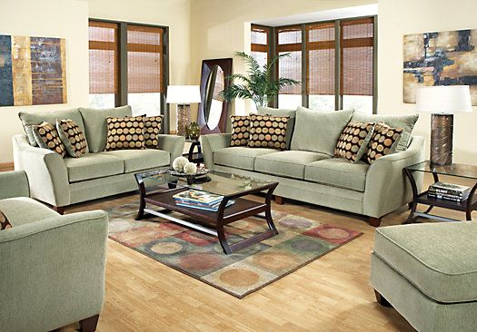 Best Shop For A Palmdale Green 7 Pc Living Room At Rooms To Go 400 x 300