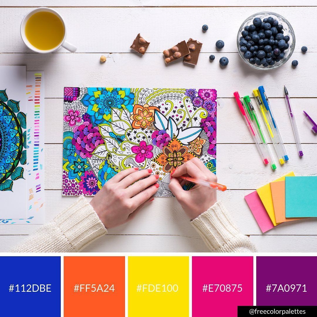 Pin By Laine Sutherland Designs Wor On Inspiration In 2020 Brand Color Palette Coloring Books Graphic Design Tips