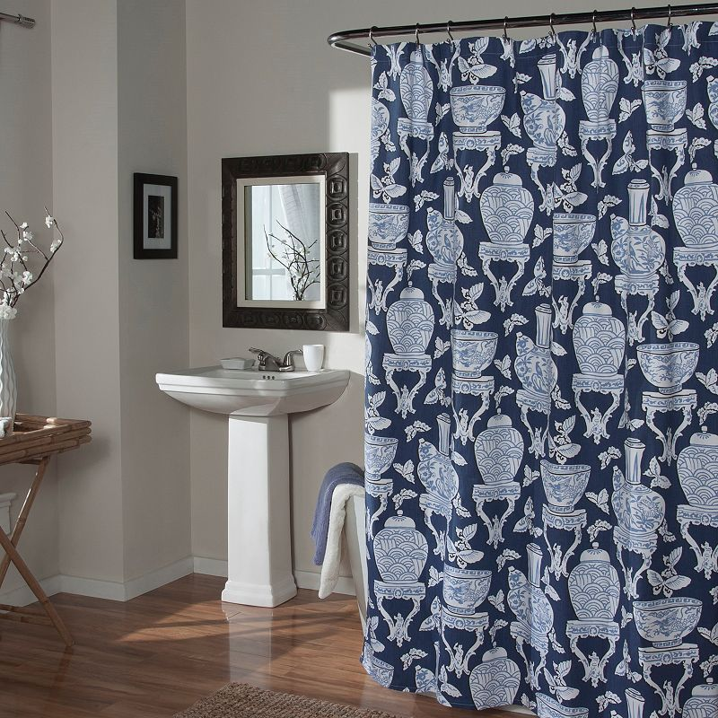 M. Style Ginger Jars Shower Curtain, Blue   Products