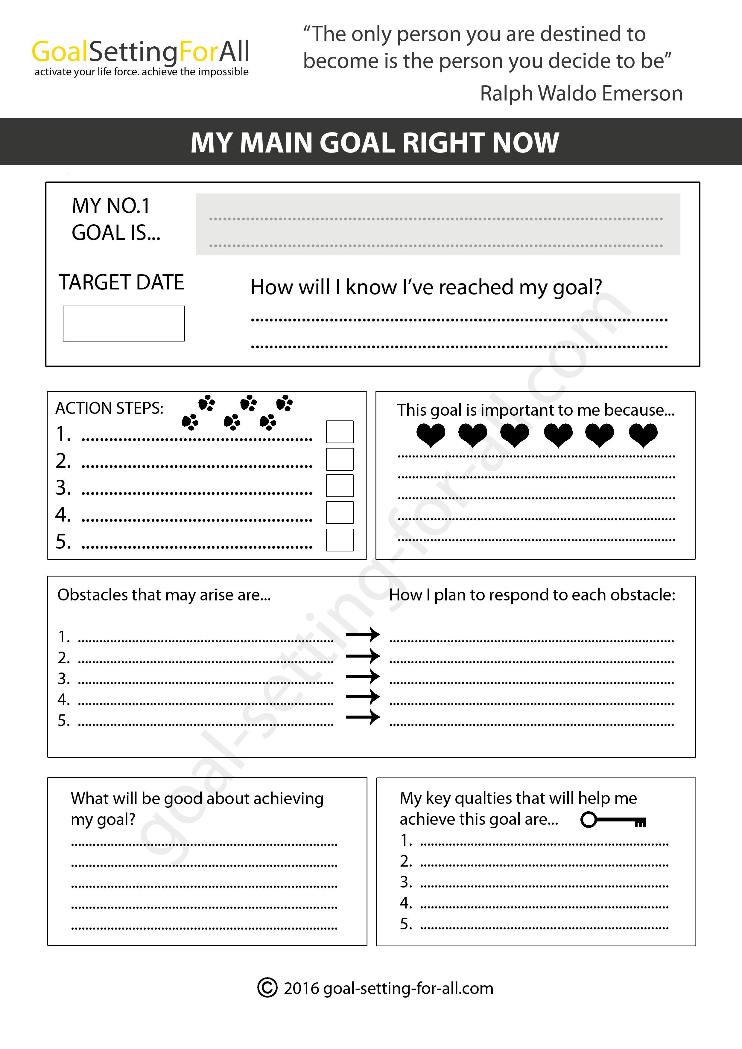 Worksheets Goal Setting Worksheet Pdf image result for life balance goal setting pdf vision board you can use these worksheets to think through your goals and future dreams