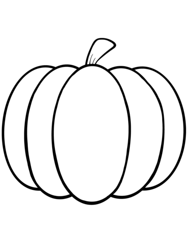 Simple Pumpkin Coloring Page From Pumpkins Category Select From 24104 Printable Crafts Pumpkin Coloring Sheet Pumpkin Coloring Template Pumpkin Coloring Pages