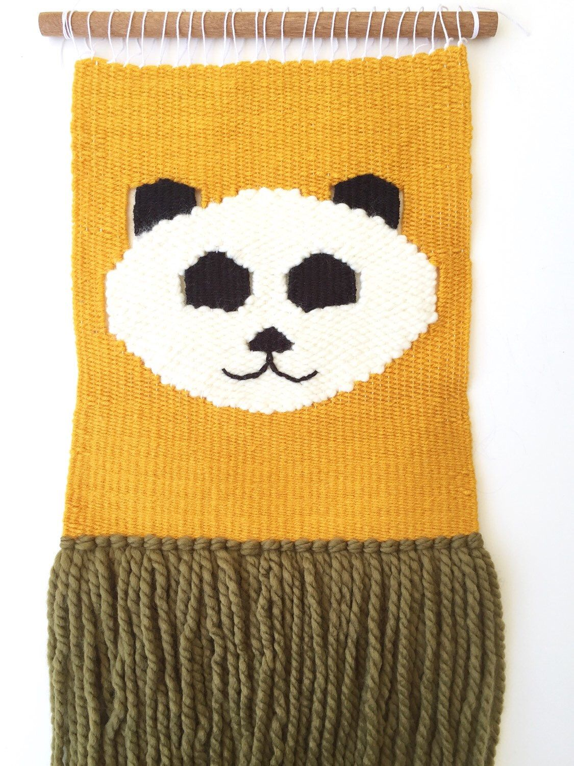 Nursery Woven Wall Hanging | panda bear decor | animal wall art ...