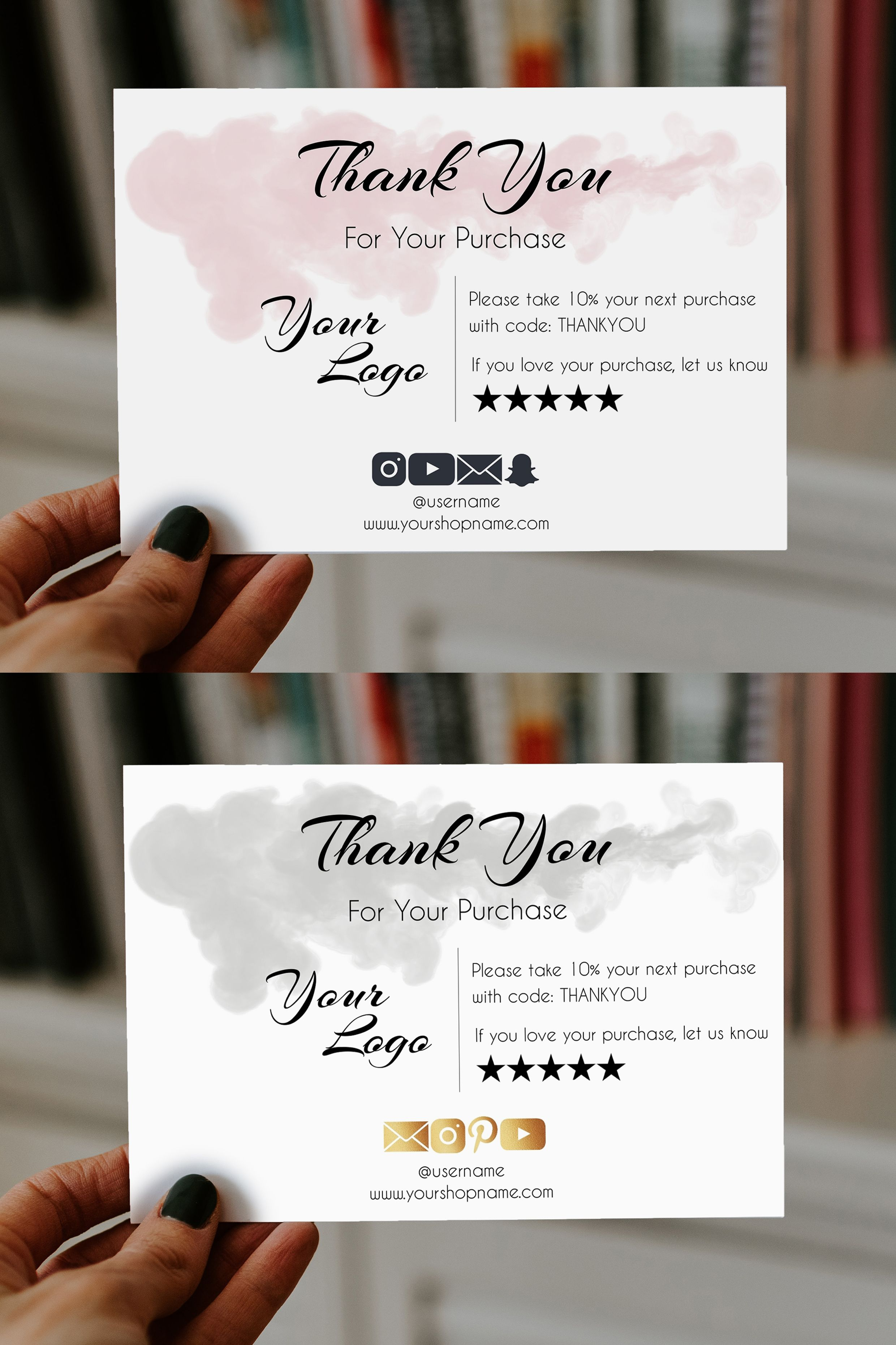Order Insert Card Template Editable Printable Diy Business Thank You Card Business Thank You Cards Business Thank You Packaging Ideas Business