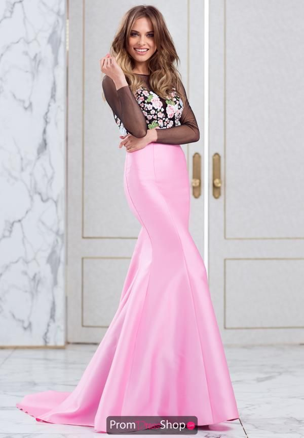 Tarik Ediz High Neckline Long Dres 50004 | Pinterest