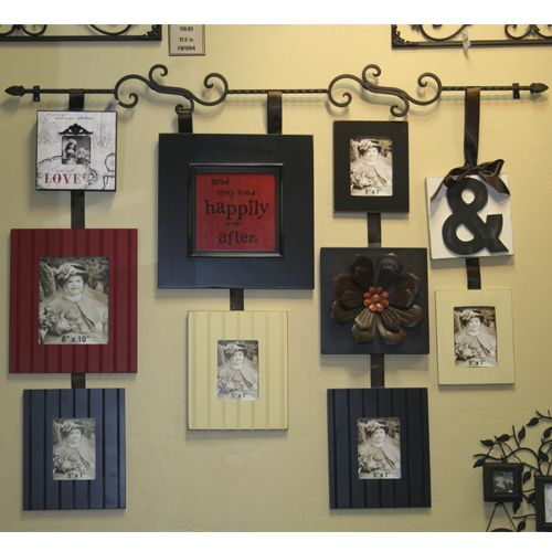 Decorative Wall Hanging Rods : Rodworks scroll frame rod picture hanging