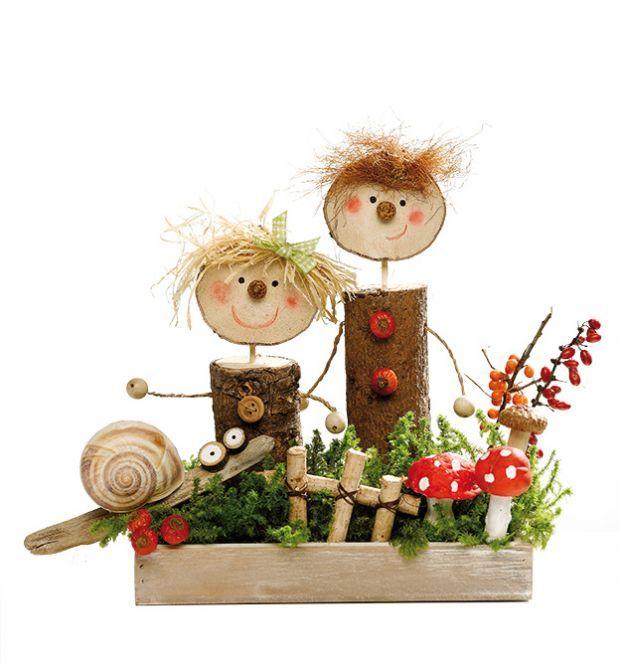Tischdeko herbst basteln mit kindern  Alles ist zum Basteln da – Naturmaterial | kreativ im Herbst ...