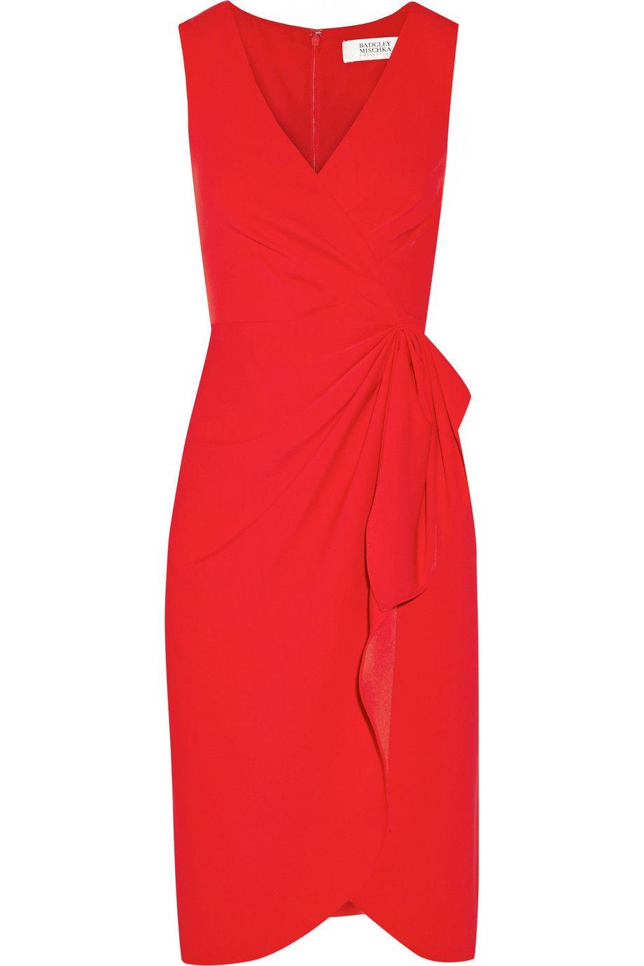 BADGLEY MISCHKA Stretch-cady dress. #badgleymischka #cloth #dress