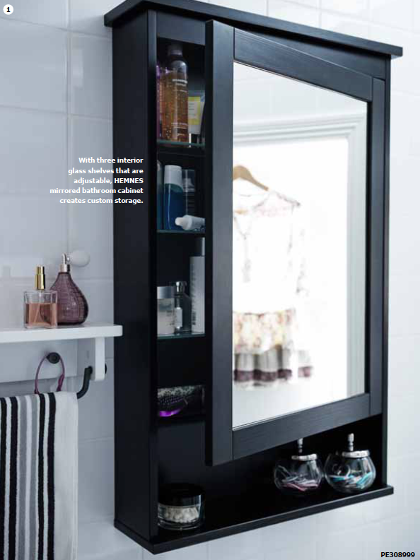 Looks Like I Have To Go To IKEA In April This Is EXACTLY What Our - Black mirrored bathroom cabinet for bathroom decor ideas