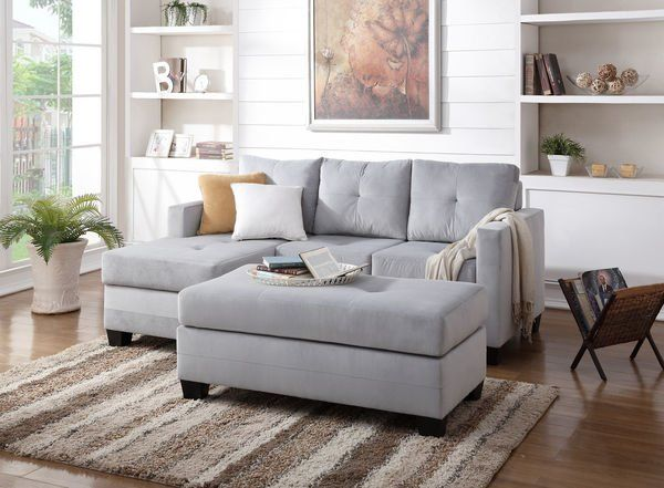 Light Grey Small Sectional From The M M I Designs Collections