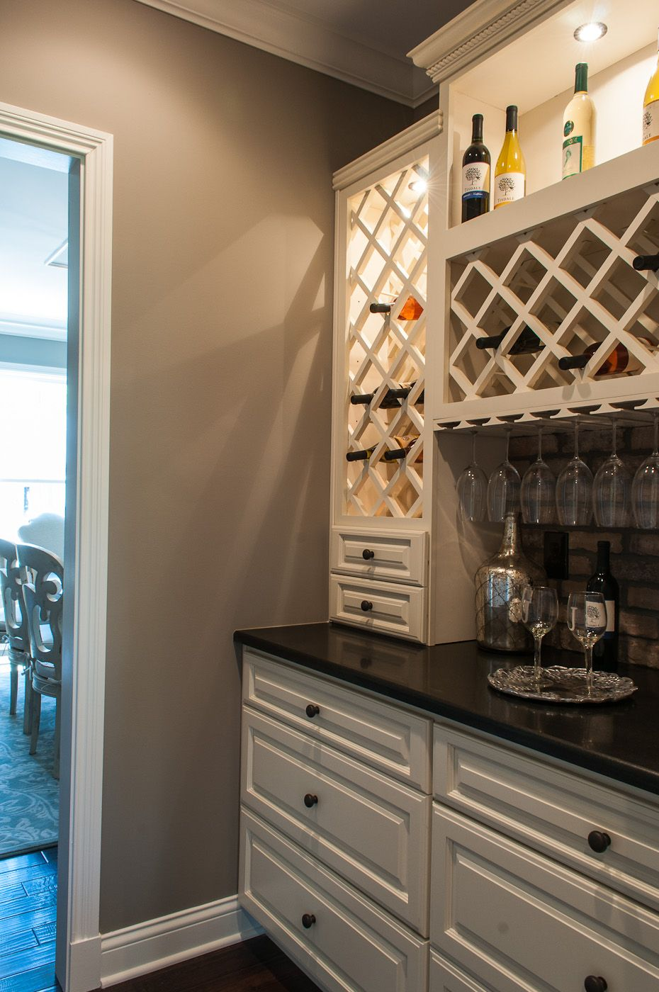 Built In Wine Bar Cabinets And Countertops Match Ours