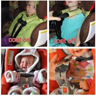 Car Seat Safety Puffy Snowsuits Coats Car Seats No No