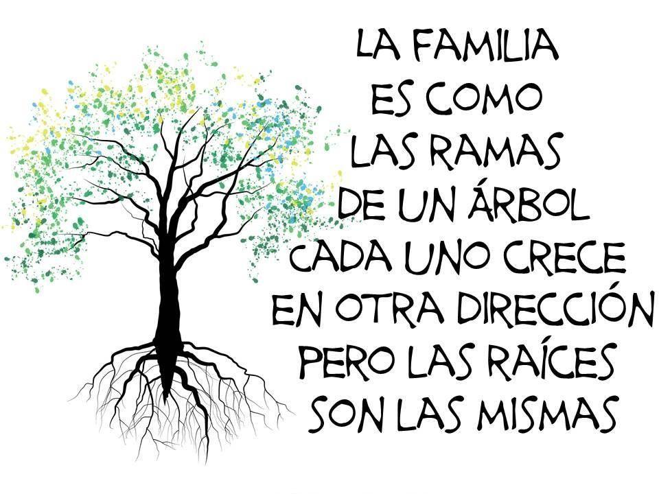 La familia es como las ramas de un rbol cada uno crece for Como obtiene su alimento un arbol