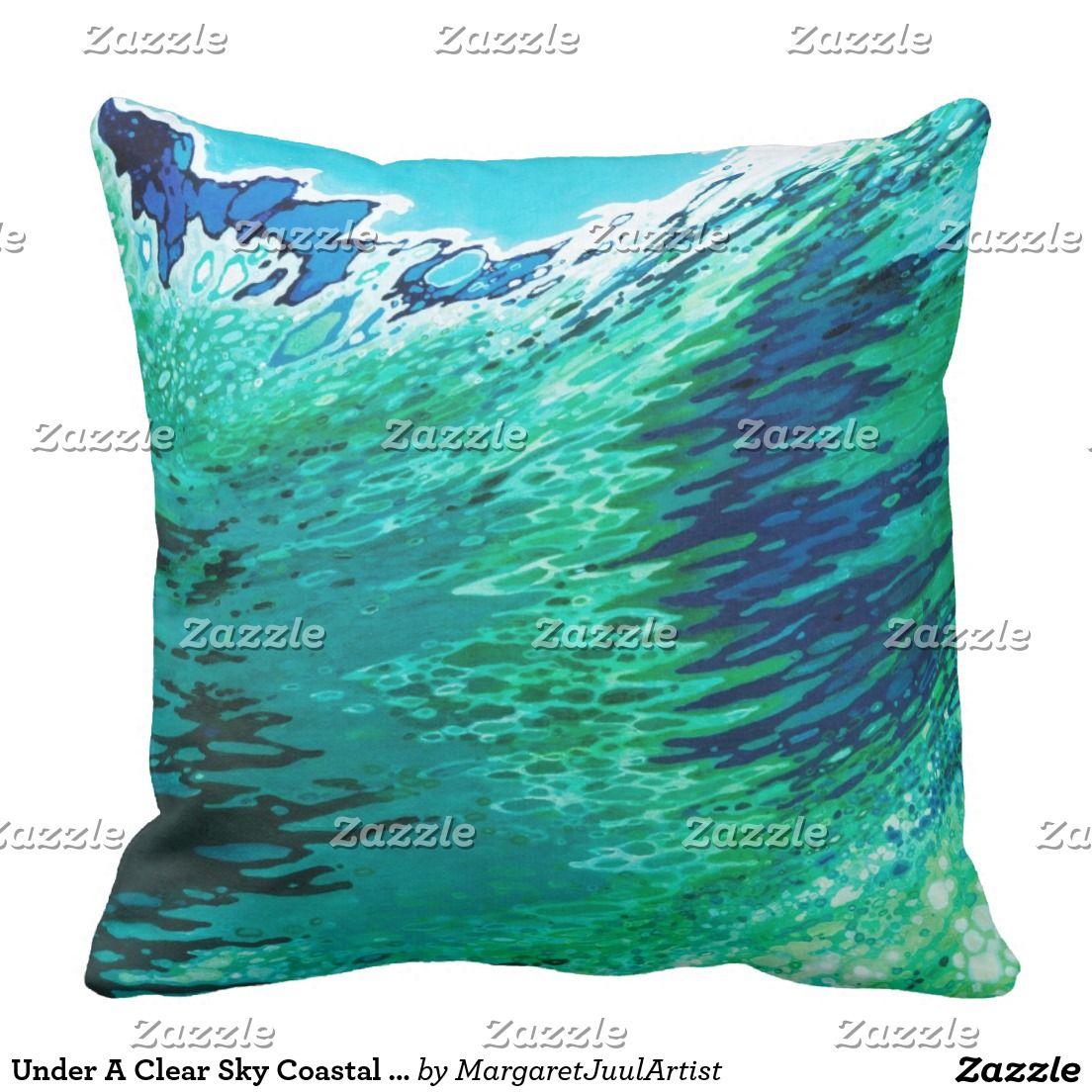 Under A Clear Sky Coastal Decor Pillow Juul
