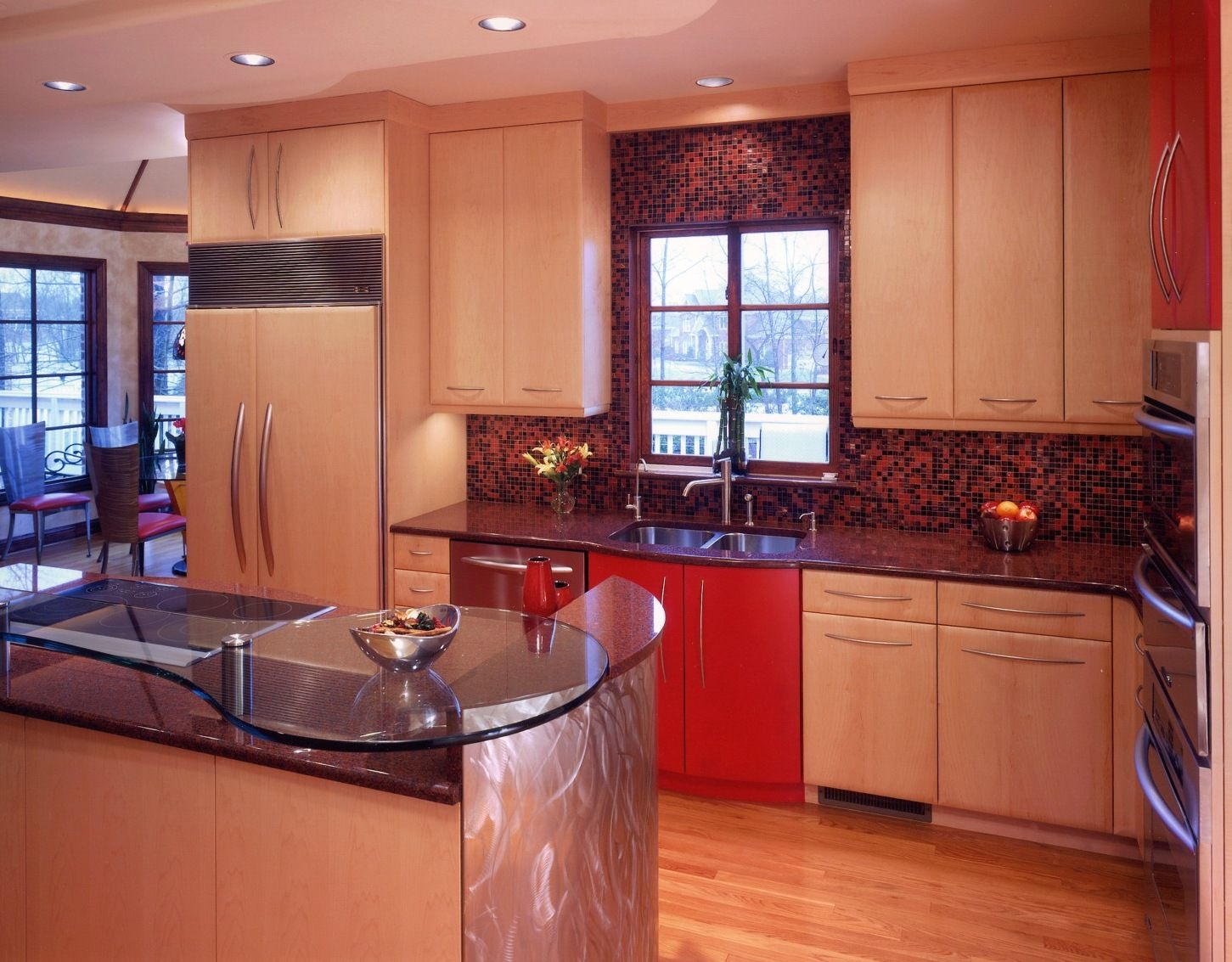 Red- High Gloss Accents | Kitchen design gallery, Kitchen ...