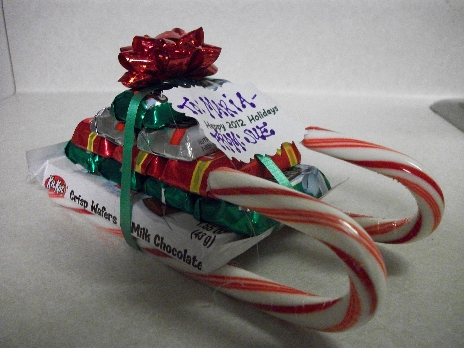 Candy Cane Sled Gift Idea : Krafty Cards etc | Christmas Projects ...