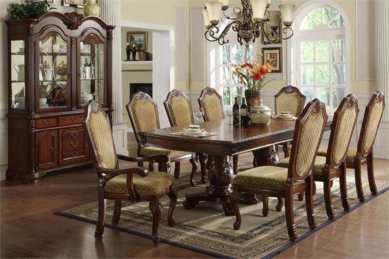 "95"" Napa Valley Dark Cherry Formal Dining Table Set  Room Glamorous Formal Dining Room Sets Design Ideas"