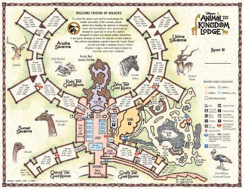 Freebie   Printable Maps Of All The Disney Vacation Club Resorts At Walt  Disney World.