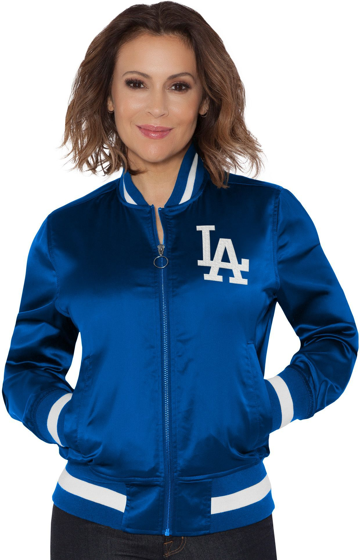 e3e8c1251 Touch by Alyssa Milano Women's Los Angeles Dodgers Bomber Jacket | DICK'S  Sporting GoodsProposition 65 warning iconProposition 65 warning icon