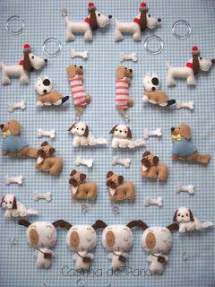 Felt dogs #dog #felt #DIY