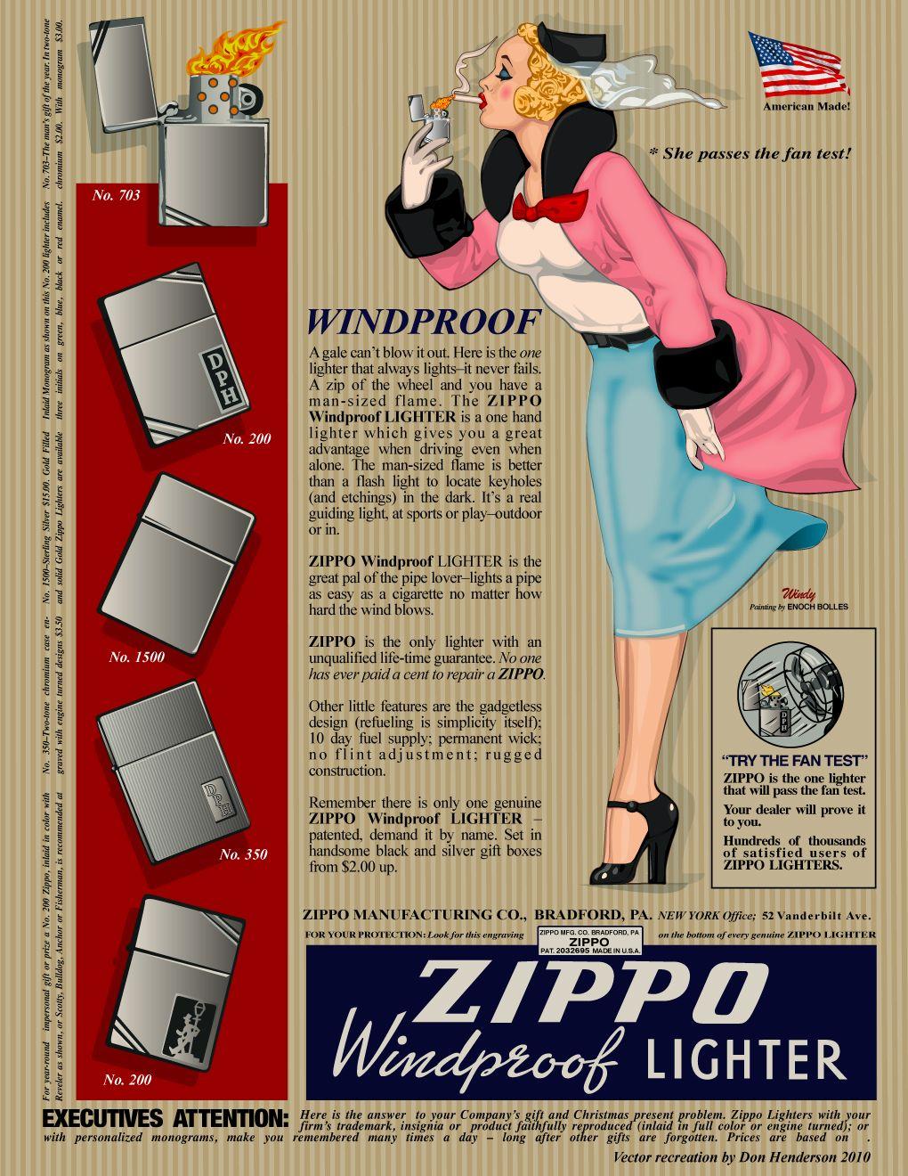 Vintage Zippo Ad Zippo Zippo Lighter Vintage Advertisements