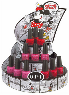 Minnie Mouse collection by OPI available June 1st.  WANT!