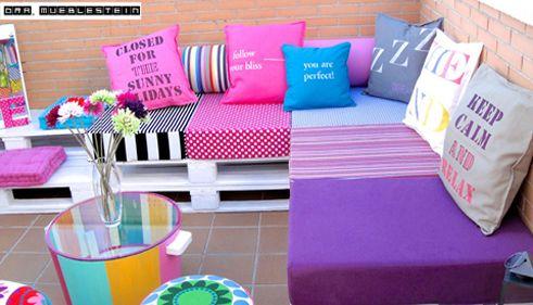 Muebles De Paletas O Pallets Reciclados Para Decorar