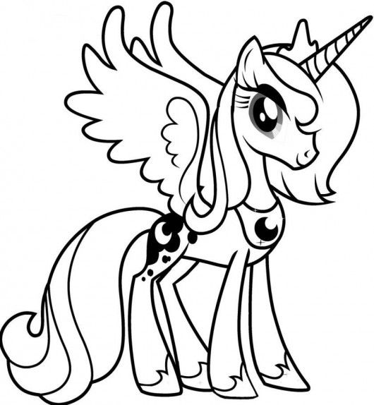 Princess Luna My Little Pony Coloring Pages Coloring Malvorlagen